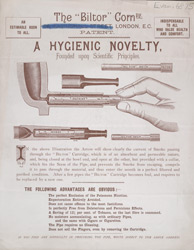 Advert for the Biltor Company smoking pipe